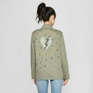 Junk Food Long Live Rock Utility Military Jacket